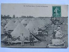 CPA CARTE POSTALE LA VIE AU CAMP DE MAILLY - UN COIN DE CAMPEMENT 14/18 WWI