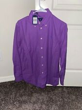 Men's Ralph Lauren Purple Button Up Polo Size Medium Brand-New