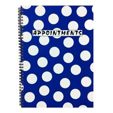 Polka Dot Appointment Book 4 Column - Blue Salon Overture