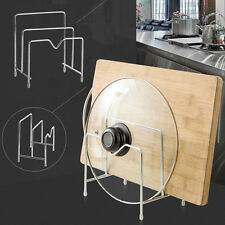 Stainless Steel Cutting Chopping Board Holder Pot Lid Stand Kitchen Organizer