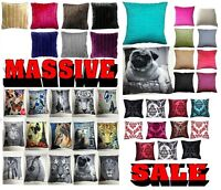 PACK OF FOUR CUSHION COVERS / PILLOWCASES MANY CHOICES OF COLORS & DESIGNS
