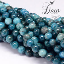 About 50pcs x Natural Apatite Beads Strands, Round Gemstone Beads wholesale, 8mm