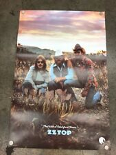 Vintage 1976 Zz Top Poster Vtg Rock Band Tour Concert Zztop