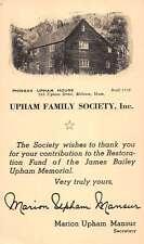 Melrose Massachusetts Upham Family Society Antique Postcard K82486