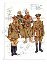 PLANCHE UNIFORMS PRINT WWII ARMEE DE ROUMANIE ROMANIA ARMY MARSHAL ION ANTONESCU