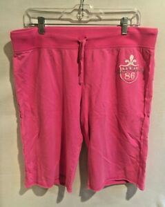 Women's Victoria's Secret PINK Royalty Booty Shorts Terry Size Large Drawstring