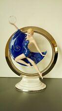 Franklin Mint Art Deco 24 Karat Gold Porcelain Figurine Eclipse