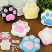 Lovely Cat Paw Pattern Contact Lens Case Mirror Travel Holder Container Box NT