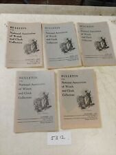 5 NATIONAL ASSOCIATION OF WATCH AND CLOCK COLLECTORS BULLETINS  1953