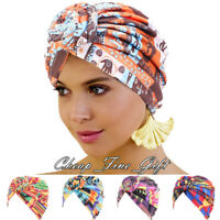India Women African Turban Hat Hijab Twist Knot Beanie Chemo Cap Head Wrap Scarf