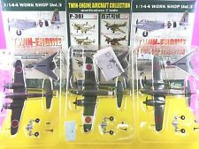 "F-Toys 1/144 "" Mitsubishi Ki-46 "" Twin-Engine vol.1 Set of 3 WW2 Air craft"