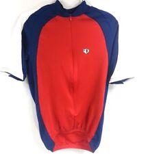 PEARL IZUMI Red Blue Short Sleeve Cycling Bike Biking Shirt Jersey Sz M