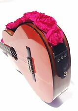 "GUITAR STRAP KID SIZE HOT PINK ORGANZA roses 2"" by: Capturing Couture KID20-HPRS"