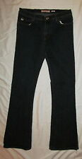 MISS SIXTY 60 TOMMY very stretchy dark wash slim fit flare retro jeans 30