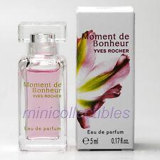 Yves Rocher MOMENT DE BONHEUR EDP 5 ml Mini Perfume Miniature Bottle New in Box