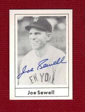 JOE SEWELL Autograph BOLD Auto Grand Slam 1987 SIGNED Yankees --JSA LOA