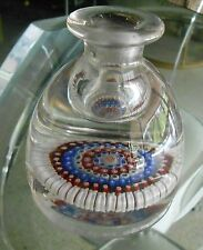 Antique English C. 1900 Stourbridge (Attr.) ~~ Millefiori Paperweight/Inkwell