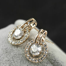 18k rose gold gf made with SWAROVSKI crystal earrings 0.75ct stud