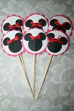 MINNIE MOUSE CUPCAKE  TOPPERS~~Birthday Party Decorations~Disney~Cricut die cuts