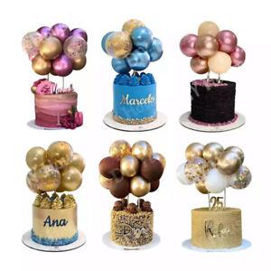 10x Confetti Balloon Cake Topper Arch Garland Birthday Wedding Decoration Party