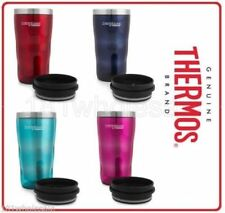 Thermos Travel Tumbler 470ml Stainless Steel Vacuum Insulated TEAL PINK BLUE RED