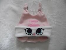 CONVERSE  BABY INFANT WARM FLEECE BONNET HAT WITH VELCRO FASTENER PINK/WHITE