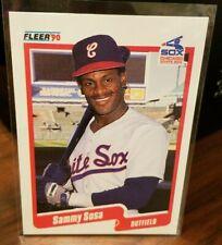 Sammy Sosa - 1990 Fleer Baseball Chicago White Sox Rookie Card #548