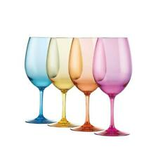 Wine Glasses Beverage Drinking Glass Party Pool Indoor Outdoor Mixed Color 20 Oz