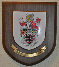 Wellington Town Council plaque shield crest coat of arms