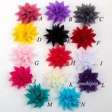 Tulle Lotus Chiffon Fabric Flowers For Baby Hair Accessories Headband DIY 30pcs