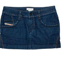 Diesel Industry Womens Y2K Blue Denim Low Rise Mini Skirt Size 28 Summer