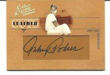 """2005 LEATHER & LUMBER. JOHNNY PODRES. """"LEATHER CUTS"""". AUTOGRAPH. 77/128. #LC-14"""