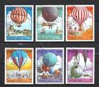 Ballons et Dirigeables Laos (32) série complète de 6 timbres oblitérés