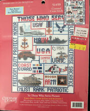 Candamar Cross Stitch Kit #51459 To Those Who Serve Picture USA Military