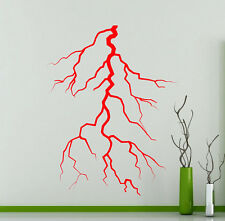 Lightning Strike Wall Decal Flash Thunder Bolt Vinyl Sticker Art Mural (288xx)