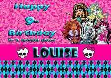 Monster High Personalizado A5 Cumpleaños Tarjeta Hija Hermana Sobrina amigo nombre edad