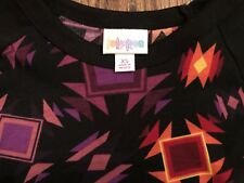 NWT LuLaRoe Randy Baseball Shirt Black Sleeves Bold Geometric Body XS