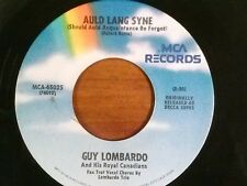 "GUY LOMBARDO 45 RPM ""Auld Lang Syne"" ""Hot Time in the Old Town Tonight"" VG+ cond"