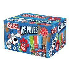 Original 60 Pk Slush Puppy Puppie Ice Pops Poles Lollies Kids Party Summer Lush