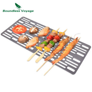 Titanium Charcoal BBQ Grill Plate Cooling Rack Camping Roasting Cooking Utensils