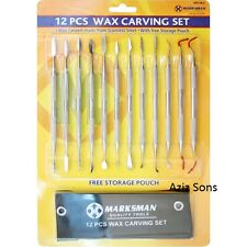 12pc Wax Soap Clay Carving Set Modelling Carvers Tool Pottery Craft Sculpting BN