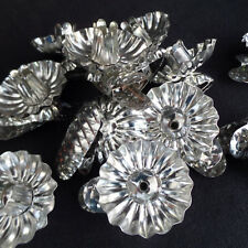 Vintage Christmas Tree Candle Clips / Set of 10 / Silver Candle Holders