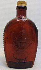 Vintage Log Cabin Syrup Bottle American Eagle 1776 on the Bottle