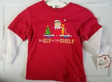 The Elf on the Shelf Cap Sleeve Christmas T-Shirt Red Size 18m