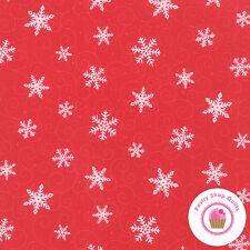 Moda HO HO HO 19704 11 RED Deb Strain QUILT FABRIC YARD Christmas Snowflakes