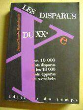 Les 10.000 mots disparus et les 18.000 mots apparus au XX siècle /Z12
