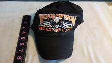 Wings of Iron Built To Last  Motorcycle Cap Hat Black Snapback Eagle