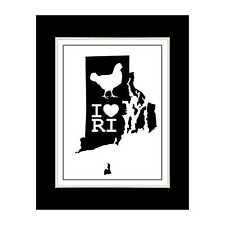 Rhode Island State 4 - Matted for 11x14 Frame