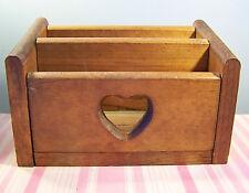 """Vintage Wooden Mail Holder Organizer Slot Box 9 1/2"""""""