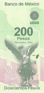 200 pesos Mexico 2008 conmemorative Independece pick 129